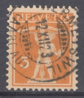 HELVETIA 1921: Mi 162 / YT 159, O - FREE SHIPPING ABOVE 10 EURO - Used Stamps