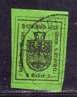 MERANO 1918 HELLER 2h VERDE USATO USED OBLITERE' - Merano