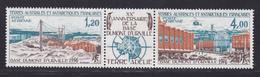 TAAF AERIENS N°   43A ** MNH Neuf Sans Charnière, Triptyque, TB (D8020) Base Dumont D'Urville - 1976 - Poste Aérienne