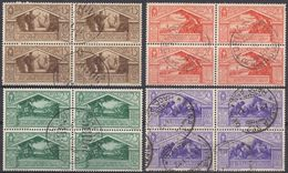 ITALIA - 1930 - Lotto Di 4 Quartine, Usate Di Seconda Scelta: Yvert 263, 264, 265 E 267, Come Da Immagine. - Afgestempeld