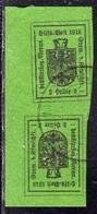 MERANO 1918 HELLER 2h VERDE TETE-BECHE VERTICALE USATO USED OBLITERE' - Merano
