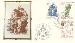 FDC CITTA' DEL VATICANO 12-6-1986 CENT.DI PROCLAMAZIONE DEI SANTI C.DE LELLIS E GIOVANNI DI DIO. - FDC