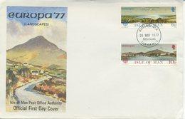 ISOLA DI MAN - FDC 1977  - EUROPA UNITA - CEPT - TURISMO - Isola Di Man