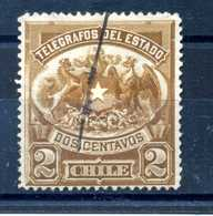 1883 CILE TELEGRAFO N.1 USATO - Cile