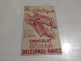 Buvard Ancien CHOCOLAT DELESPAUL HAVEZ CORONA - Chocolat