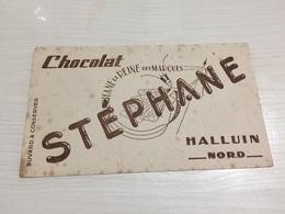 Buvard Ancien CHOCOLAT STEPHANE HALLUIN NORD - Chocolat