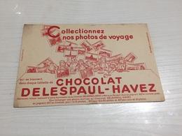 Buvard Ancien CHOCOLAT DELESPAUL HAVEZ - Chocolat