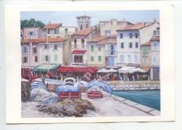 Cassis Le Port : Aquarelle De Robert Baroghel - Cassis