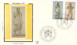 VATICANO, FDC FILAGRANO GOLD 1987, ESPOSIZIONE FILATELICA OLIMPHILEX '87. - FDC