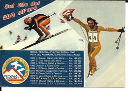 SKI ALPIN DE VITESSE KL - ALPINE SKIING -  CERVINIA ZERMATT GASPERI ITALIA - VALLE AOSTA - Sports D'hiver
