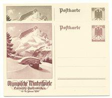 DR Ganzsachen P257 & P258 Olympia Garmisch 1936 - Germany