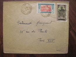 Cote D'Ivoire France 1938 Lettre Enveloppe Adressée Anna QUINQUAUD Sculpteur Cover Ivory Coast Grand Bassam Colonie AOF - Marcofilie (Brieven)