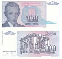 JUGOSLAVIA YUGOSLAVIA JUGOSLAVIJE 100 DINARI 1994  FDS UNC TESLA - Jugoslavia