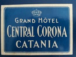 ETICHETTA  ALBERGO GRAND HOTEL CENTRAL CORONA LABEL LUGGAGE VALIGIA - Vieux Papiers
