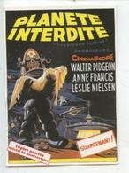 """Planète Interdite """"Forbidden Planet"""" Spécial 50è Anniversaire Film Culte Enfin Réédité..... Surprenant ! (2 Scan) - Affiches Sur Carte"""