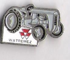 Pin's TRACTEUR MASSEY FERGUSSON - WATREMEZ - Pins