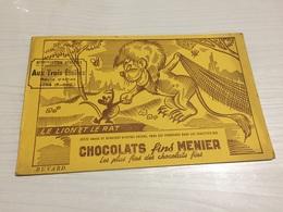 Buvard Ancien CHOCOLAT FINS MENIER - Chocolat