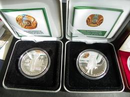 KAZAKHSTAN Silver Commemorative Coins 500 Tenge Pair Of Two Different Coins - Kazakhstan