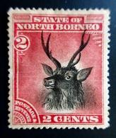 1894 North Bornéo Yt 53 .  Sambar Deer (Cervus Unicolor) . Neuf Trace Charnière Correct - Bornéo Du Nord (...-1963)