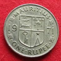 Mauritius 1 One Rupee 1971 KM# 35.1 Lt 212  Mauricia Maurice - Maurice