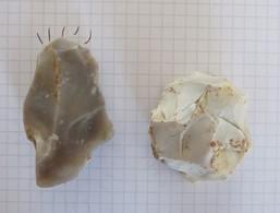 Prehistoire Silex Taillé Neolithique Grattoir Et Outil - Archéologie