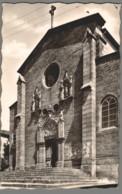 CPSM 43 - Saugues - Entrée De L'Eglise - Saugues