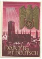 DR Ganzsache P287 Danzig Ist Deutsch 1939 Würzburg Nach Pflugscheid/Saar - Germany