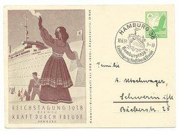 DR Ganzsache P246 Reichstagung 1938 Sonderstempel - Alemania