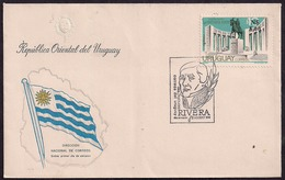 Uruguay - FDC - 1976 - Monument Au Général Fructuoso Rivera - Uruguay