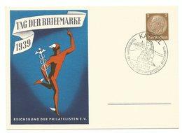 DR Ganzsache P239/02 Tag Der Briefmarke In Blau 1939 Sonderstempel KASSEL - Alemania