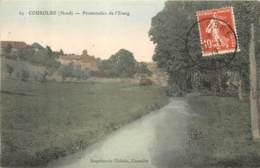 59 - COUSOLRE - Promenade De L'etang En 1919 (couleur) - Andere Gemeenten