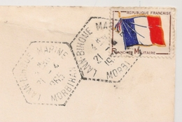 LANN BIHOUE MARINE Morbihan Sur Enveloppe Sélection Du Reader's Digest En FM. 1965. - Postmark Collection (Covers)