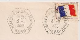 NIMES GARONS MARINE Gard Sur Enveloppe Sélection Du Reader's Digest En FM. 1965. - Postmark Collection (Covers)
