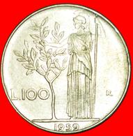 # GODDESS MINERVA (1954-1989): ITALY ★ 100 LIRE 1959R! LOW START ★ NO RESERVE! - 1946-… : Republic