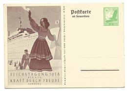 DR Ganzsache P247 Reichstagung 1938 Antwortkarte - Ganzsachen