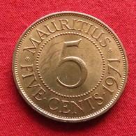 Mauritius 5 Cents 1971 KM# 34  Lt 335  Mauricia Maurice - Maurice