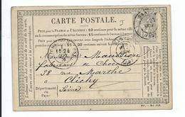 N° YT 66 Sur Carte Postale De Nantes Pour Clichy 1876 - 1849-1876: Période Classique