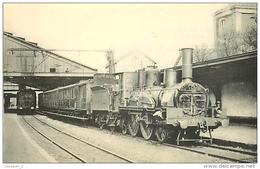 Thème Train Etampes - Bourges Gare EtampesExpress 265-390 Région Sud-Ouest (ex P.O.) CP Ed. H.M.P. N° 91 Locomotive Vape - Trains