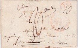GB-Marque Postale Londres>Paris>Montbard..1838 - Great Britain