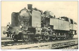 Thème Train Machine-tender 8623 Type PLM 242 AT Strasbourg Locomotives De L'est (Ex A-L) CP Ed. H.M.P. N° 132 Locomotive - Treni