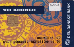 Denmark, DD 155h, Coins, Danske PC, Only 2550 Issued, 2 Scans.   Chip DK-D7 - Danemark