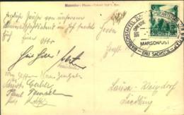 1936, MARSCHSTAFFEL ZUM REICHSPARTEITAG 3.9.36 (FDC), AK Hof Adolf Hitler Halle - Allemagne