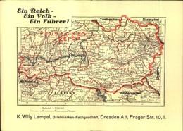 """1938,, """"Ein Reich-Ein Volk-Ein Führer"""" - Firmenkarte Zum Anschluss Österreichs - Propaganda - Deutschland"""