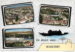90 BEAUCOURT Vue Générale - Panoramique Cité Chatelot - L'usine Japy  CPSM GF 3 Vues Ed. Lapie - Beaucourt