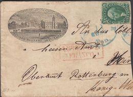 1859. 10 CENTS WASHINGTON. NASHVILLE OCT 11 1859 Ten. + FRANCO To Germany On Cut Cove... (MICHEL 11) - JF301232 - Cartas
