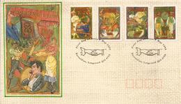 La Vie Des Métiers Au XIX Ième Siècle:  Boulanger,Cordonnier,Forgeron,Couturières,etc FDC  AUSTRALIA 1993 - Jobs