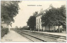 79 PAMPROUX  La Gare   CPA Ed. Servant - Autres Communes
