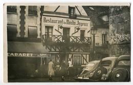 Photo Carte Dep 75 - PARIS - Montmartre - Automobile Devant Le Restaurant Le Moulin Joyeux - Le Cabaret Bière Dumesnil - Arrondissement: 19