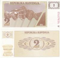 SLOVENIA SLOVENIJA 2 TOLARJEV 1990 FDS UNC - Serbia