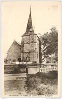 76 CRASVILLE LA MALLET L'église CPSM PF Sépia Edit. R. Caron - France